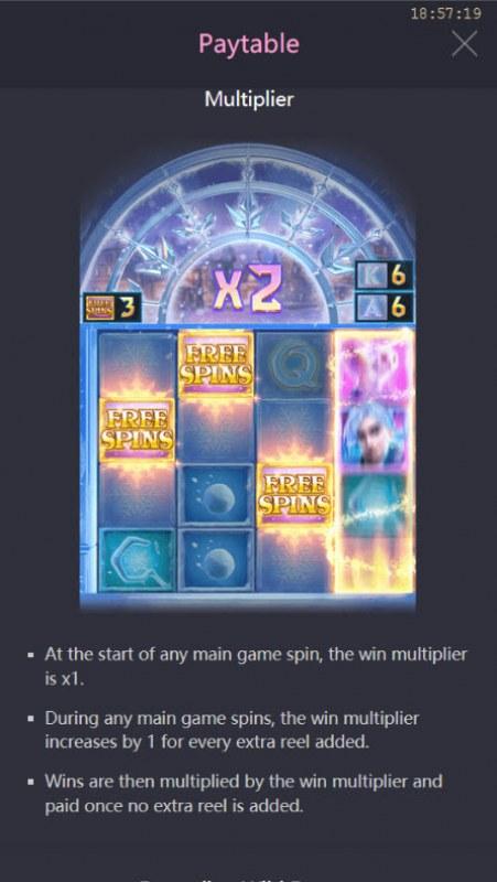 Jack Frost's Winter Infinity Reels :: Multiplier
