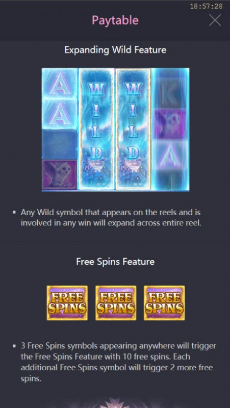 Jack Frost's Winter Infinity Reels :: Expanding Wild Feature