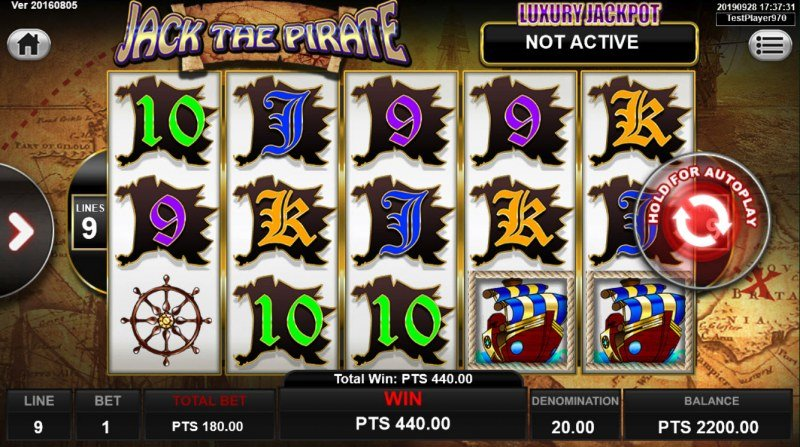 Jack the Pirate :: Game pays in both directions