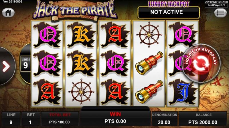 Jack the Pirate :: Main Game Board