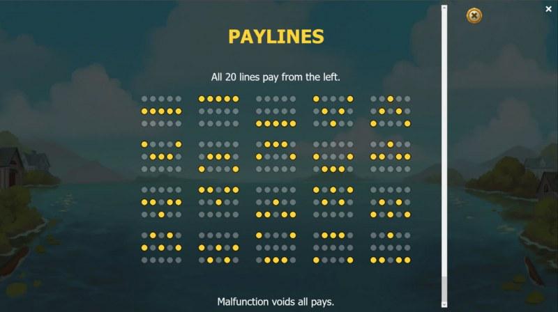 Jackpot Express :: Paylines 1-20