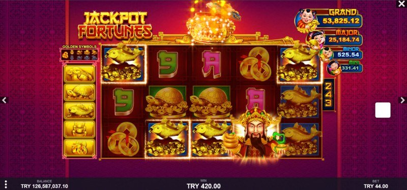 Jackpot Fortunes :: A five of a kind win
