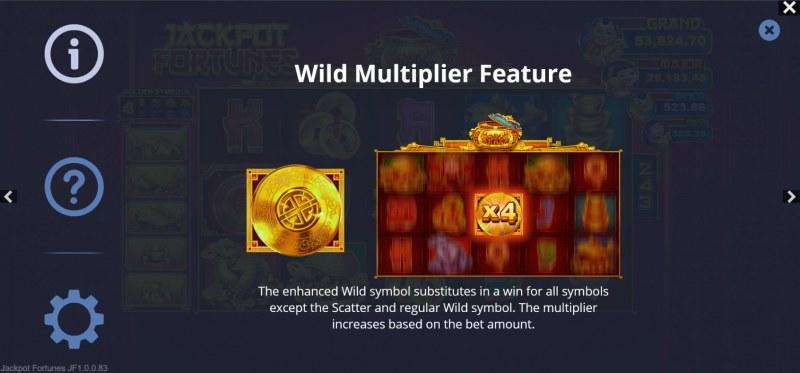 Jackpot Fortunes :: Wild Multiplier Feature