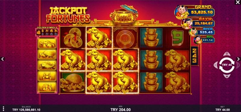 Jackpot Fortunes :: Multiple winning combinations