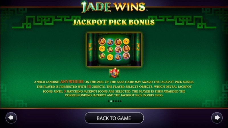 Jade Wins :: Jackpot Pick Bonus Rules