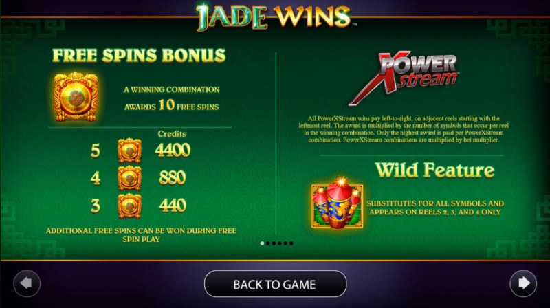 Jade Wins :: Free Spins Rules