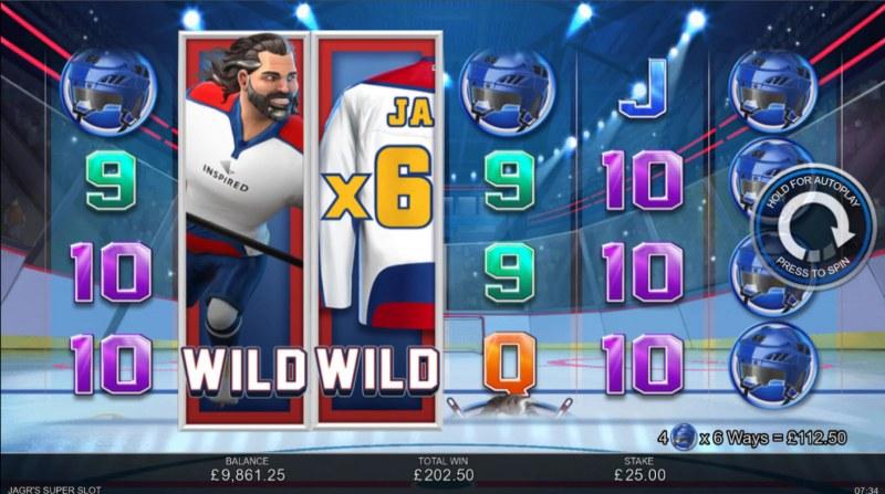 Jagr's Super Slot :: Multiple winning paylines