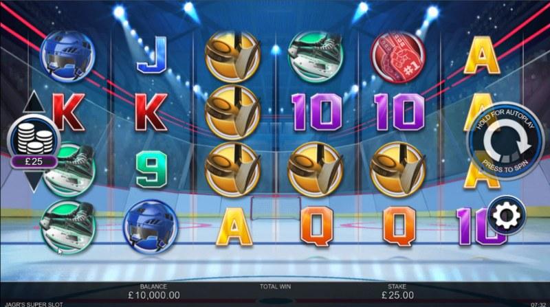 Jagr's Super Slot :: Base Game Screen