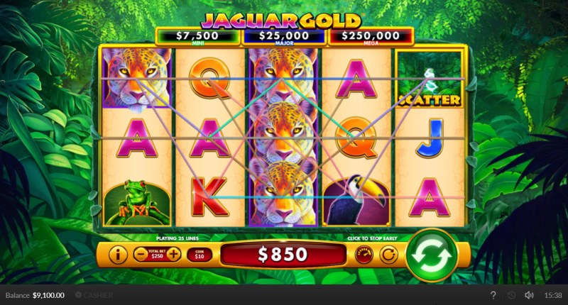 Jaguar Gold :: Multiple winning paylines