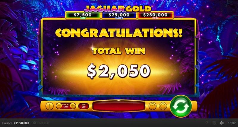 Jaguar Gold :: Total Free Spins Payout
