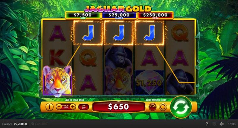 Jaguar Gold :: A four of a kind win