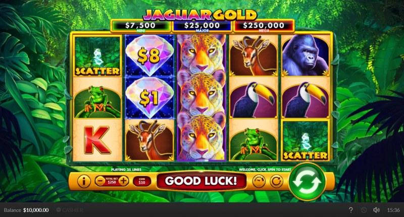 Jaguar Gold :: Base Game Screen