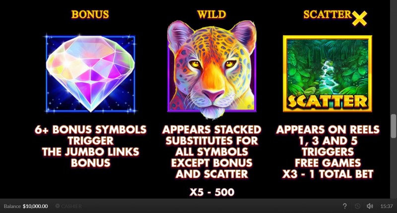 Jaguar Gold :: Wild and Scatter Rules