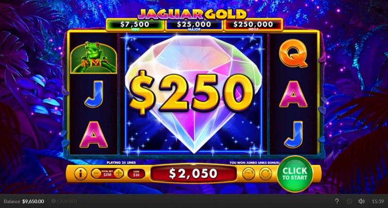 Jaguar Gold :: Jumbo Links Bonus triggered