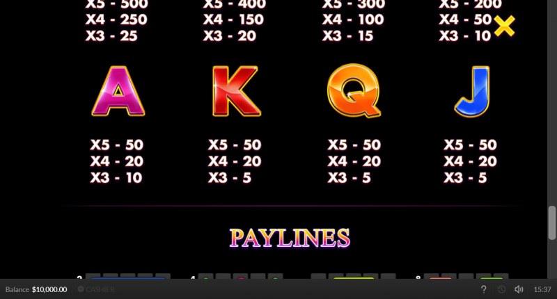 Jaguar Gold :: Paytable - Low Value Symbols