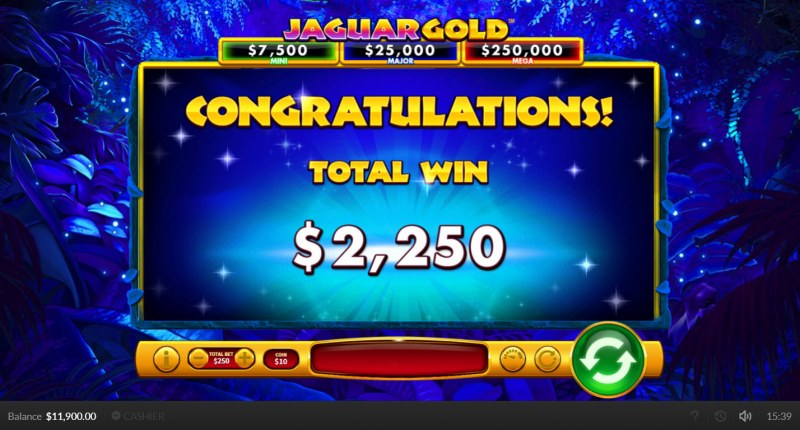 Jaguar Gold :: Total Feature Payout