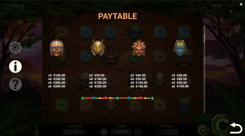 Jambo Cash :: Paytable - High Value Symbols