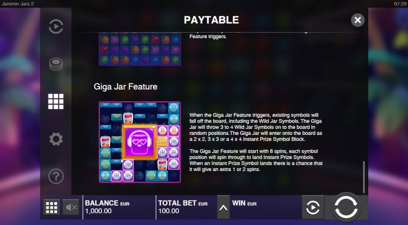 Jammin Jars 2 :: Giga Jar Feature