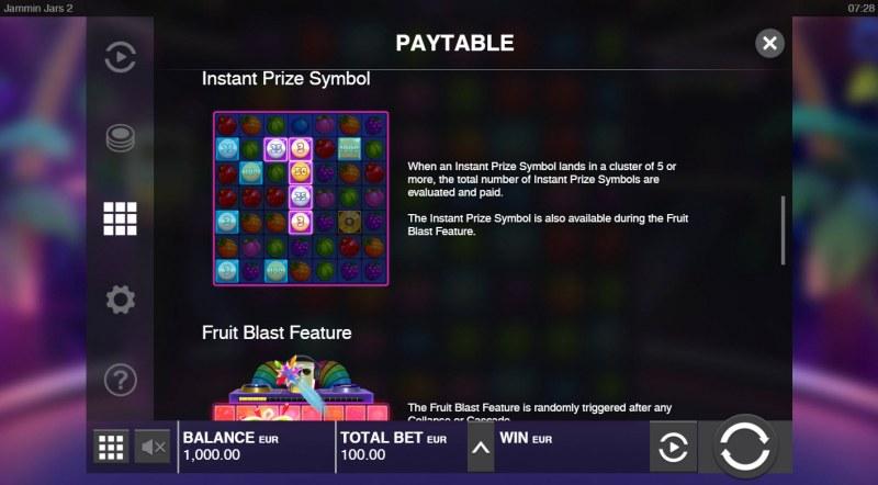 Jammin Jars 2 :: Instant Prize