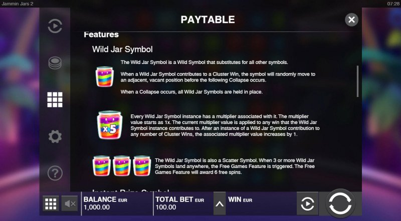 Jammin Jars 2 :: Wild Symbol Rules