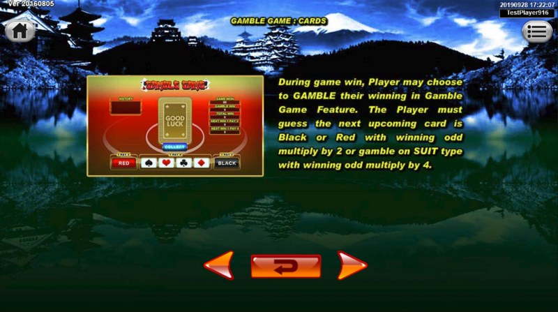Japan Fortune :: Gamble Feature Rules