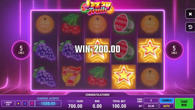 Jazzy Fruits :: Scatter Win