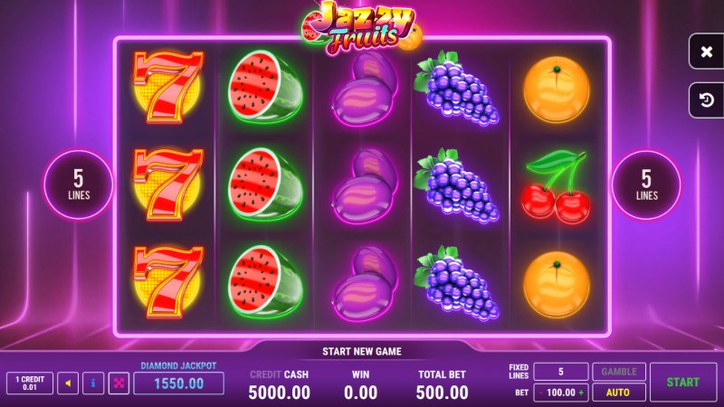 Jazzy Fruits :: Main Game Board