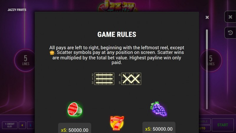 Jazzy Fruits :: General Game Rules
