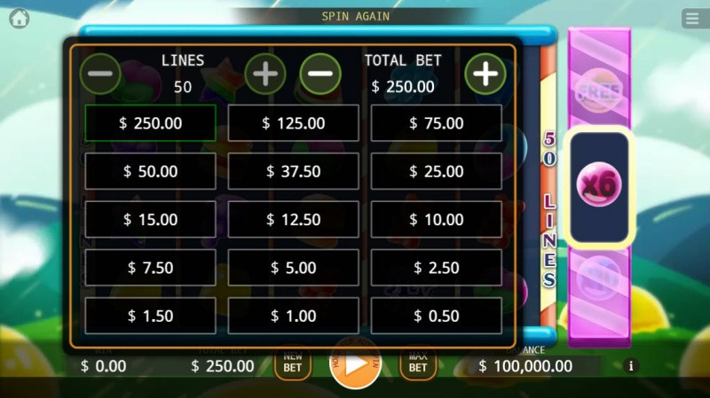 Jelly Mania :: Available Betting Options