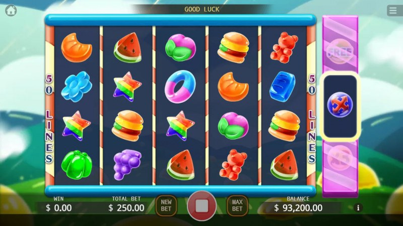Jelly Mania :: Scatter symbols triggers the free spins feature