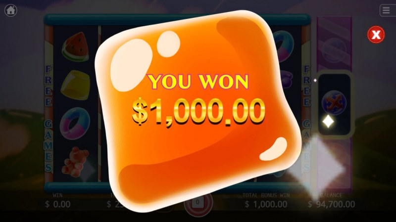 Jelly Mania :: Total free spins payout
