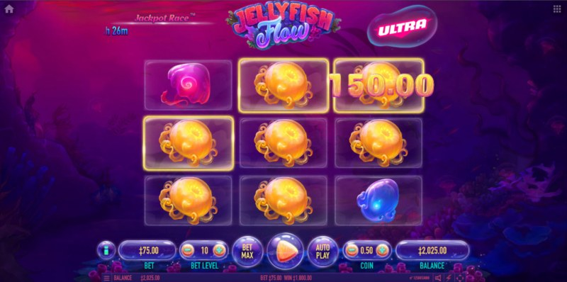 Jellyfish Flow Ultra :: Multiple winning combinations lead to a big win