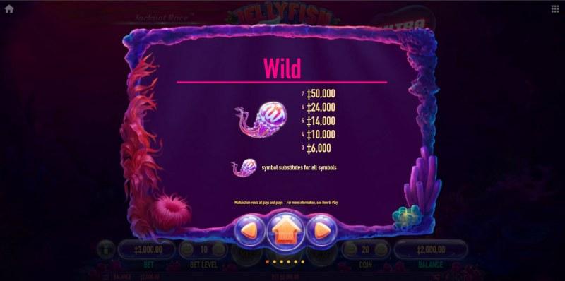 Jellyfish Flow Ultra :: Wild Symbol Rules