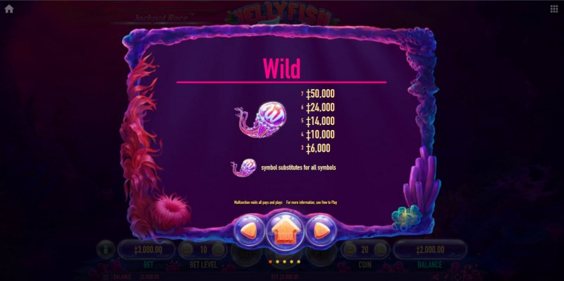 Jellyfish Flow :: Wild Symbol Rules