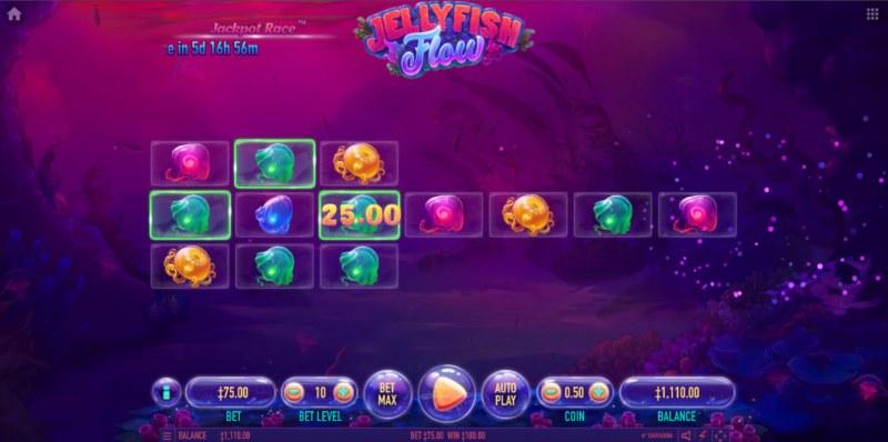 Jellyfish Flow :: A three of a kind win