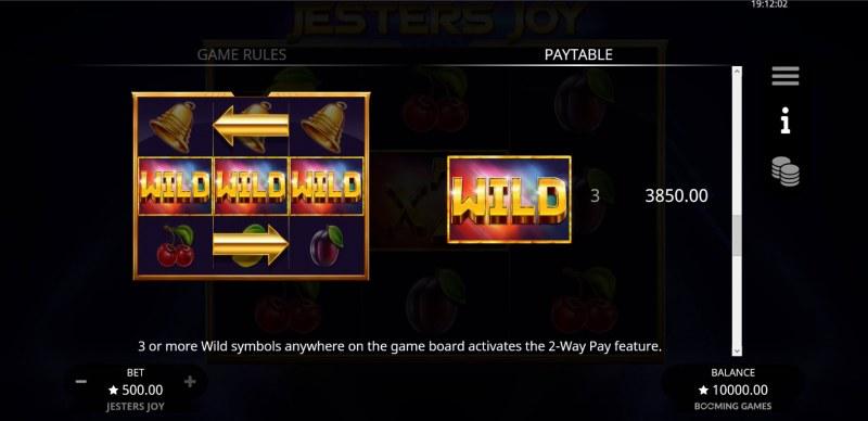 Jesters Joy :: Wild Symbol Rules