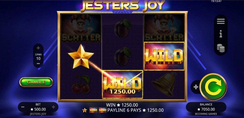 Jesters Joy :: A three of a kind win