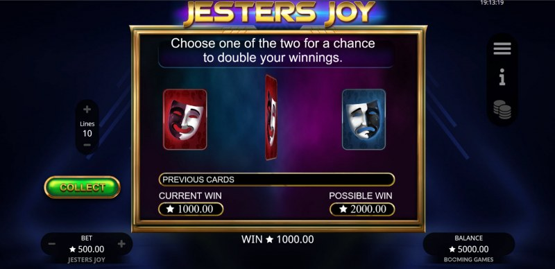 Jesters Joy :: Gamble feature