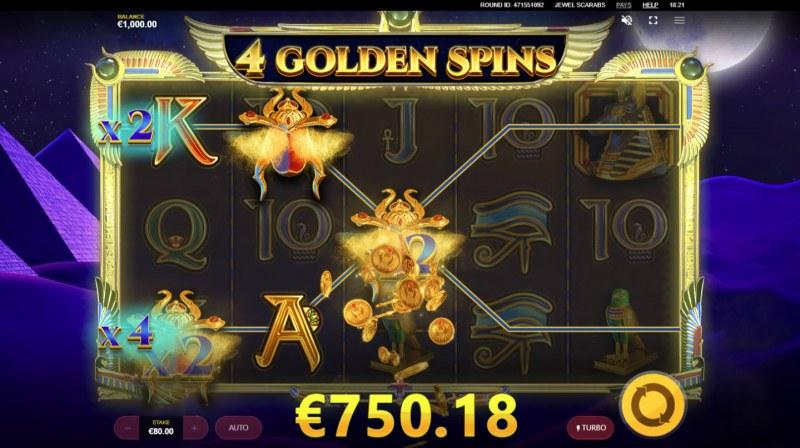 Jewel Scarabs :: Multiple winning paylines