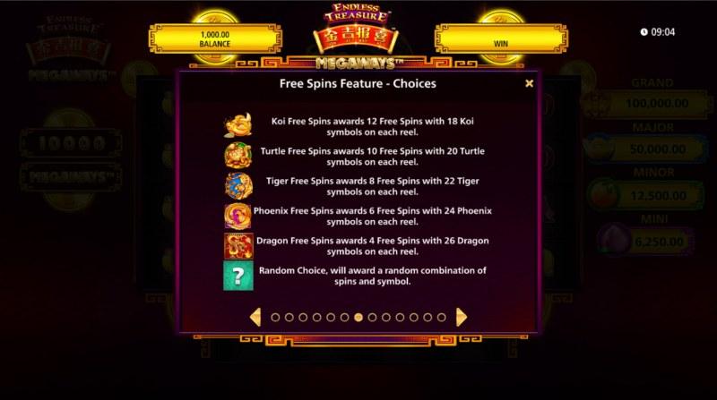 Jin Ji Bao Xi Megaways :: Feature Choices