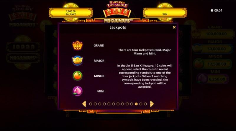 Jin Ji Bao Xi Megaways :: Jackpot Rules