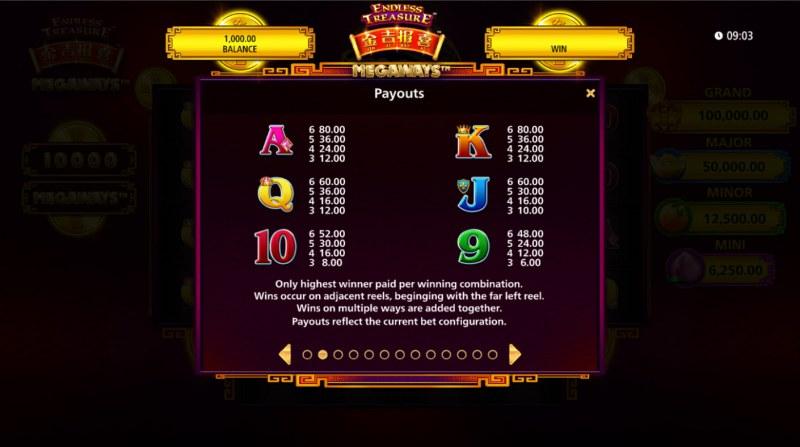 Jin Ji Bao Xi Megaways :: Paytable - Low Value Symbols