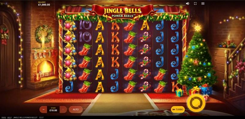 Jingle Bells Power Reels :: Main Game Board