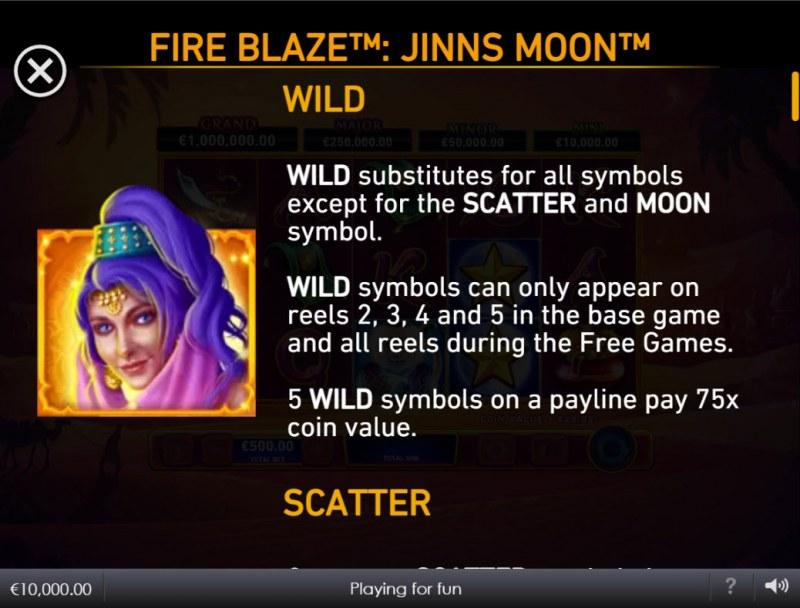 Jinns Moon :: Wild Symbol Rules