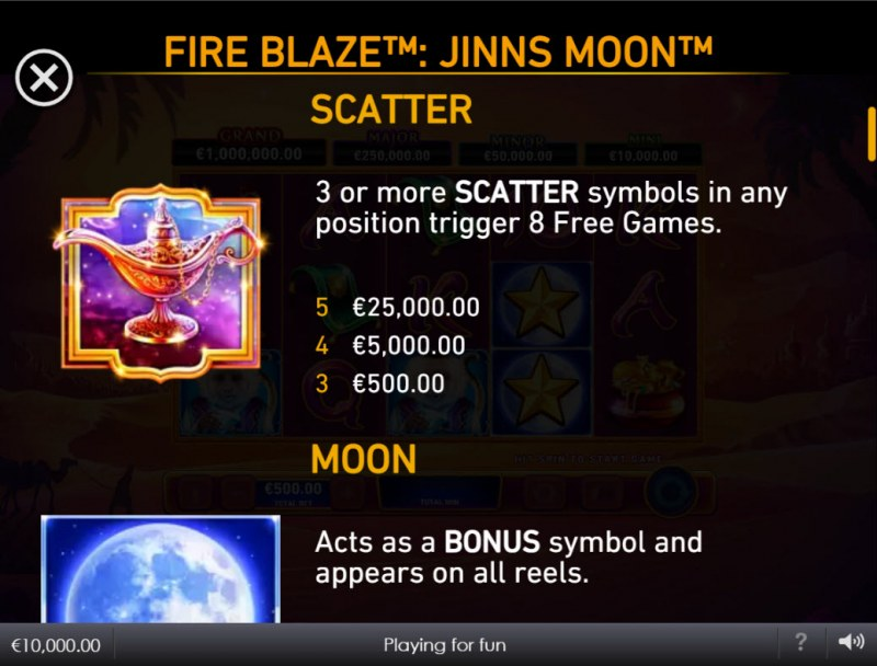Jinns Moon :: Scatter Symbol Rules