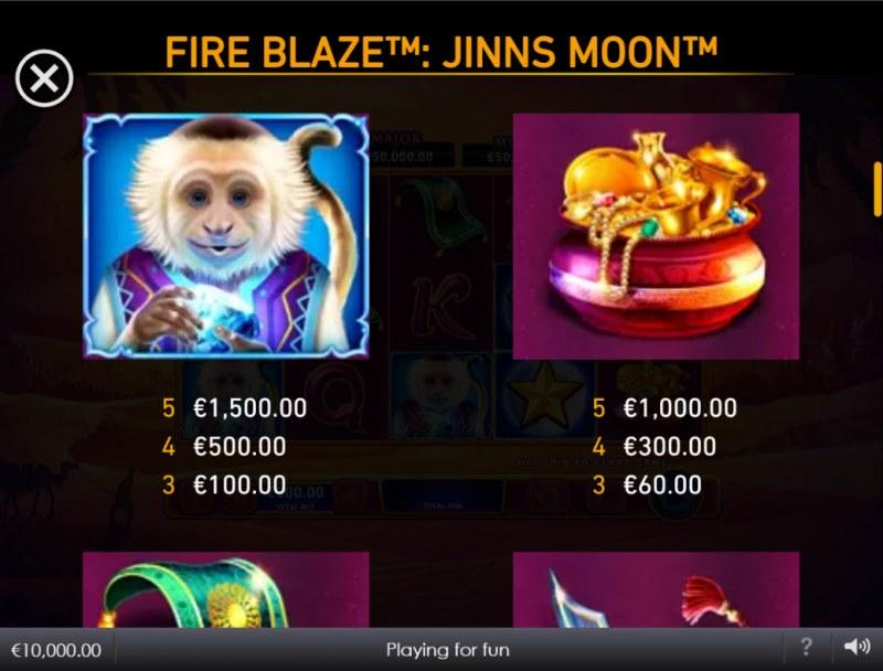 Jinns Moon :: Paytable - High Value Symbols