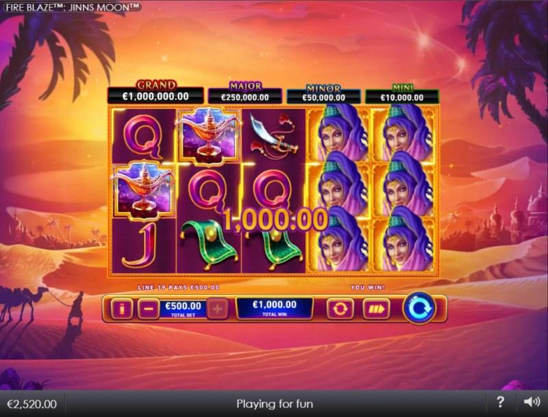 Jinns Moon :: A five of a kind win