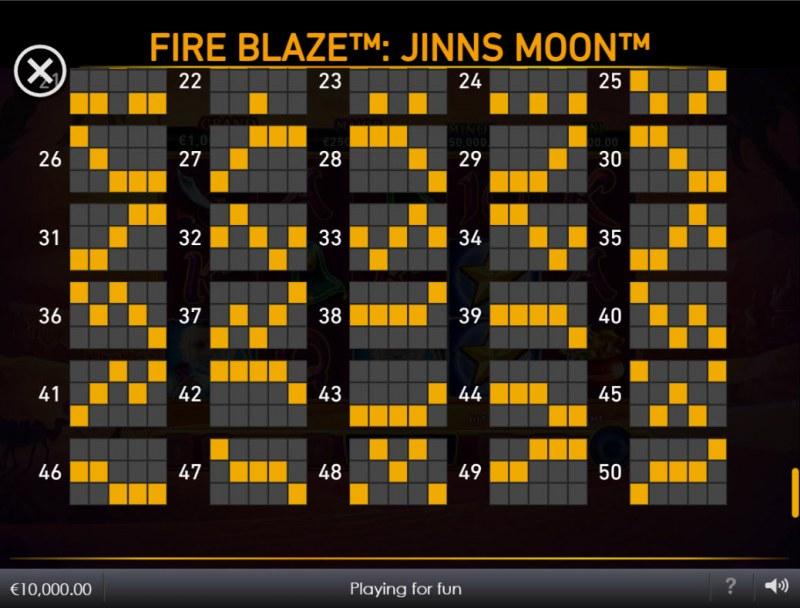 Jinns Moon :: Paylines 26-50