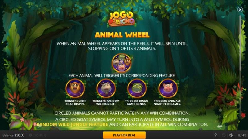 Jogo Do Bicho :: Animal Wheel Feature