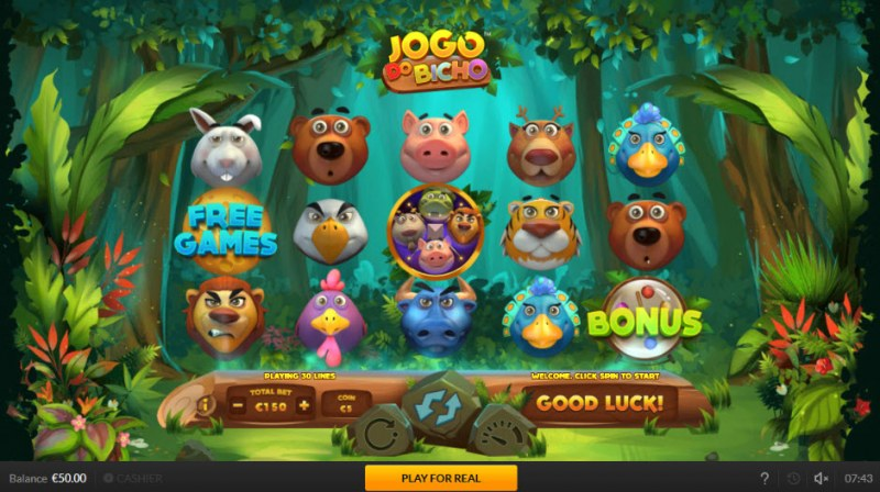 Jogo Do Bicho :: Main Game Board